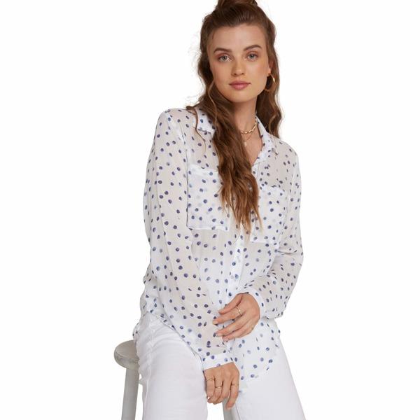 ベラダール レディース シャツ トップス Full Button-Down Hipster Shirt White