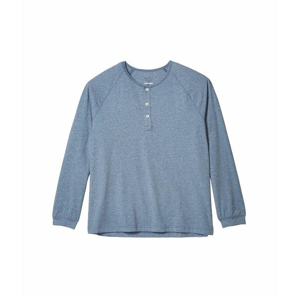 ノーマルブランド メンズ シャツ トップス Active Puremeso Long Sleeve Henley Blue