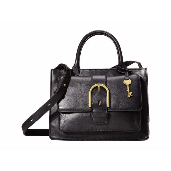 フォッシル レディース ハンドバッグ バッグ Wiley Leather Satchel Handbag Black