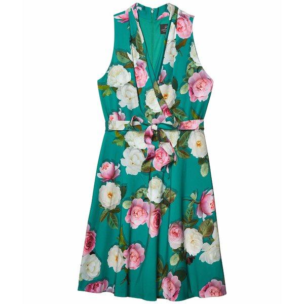 アドリアナ パペル レディース ワンピース トップス Peony Printed Bias Dress Green Multi