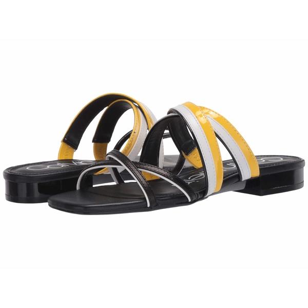 カルバンクライン レディース サンダル シューズ Missouri Black/Scuba Yellow