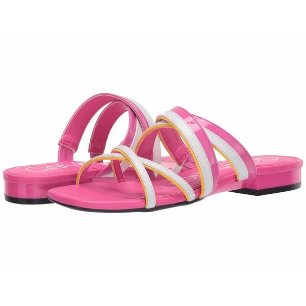 カルバンクライン レディース サンダル シューズ Missouri Scuba Pink/Scuba Yellow