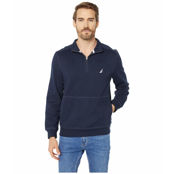 ナウティカ メンズ シャツ トップス 1/4 Zip Fleece Pullover Blue 1