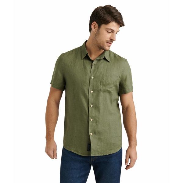ラッキーブランド メンズ シャツ トップス Short Sleeve San Gabriel Shirt 915 Green
