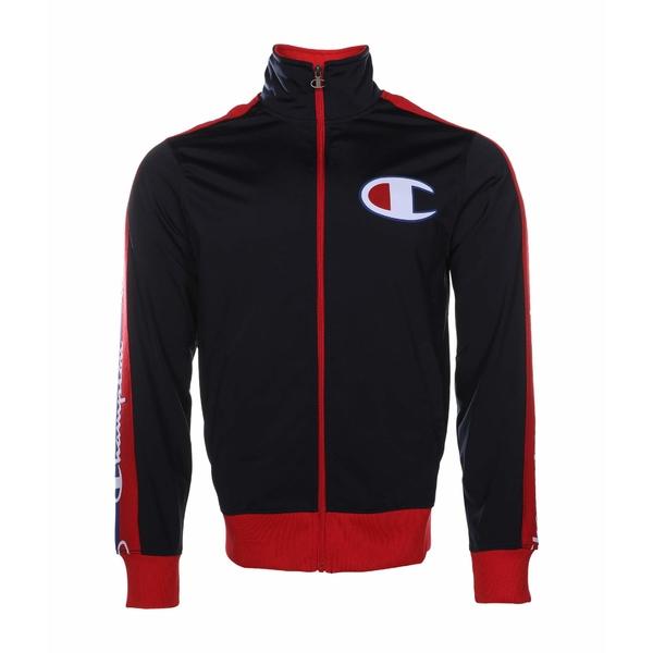 チャンピオン メンズ コート アウター Tricot Track Jacket - Taping Navy/Scarlet