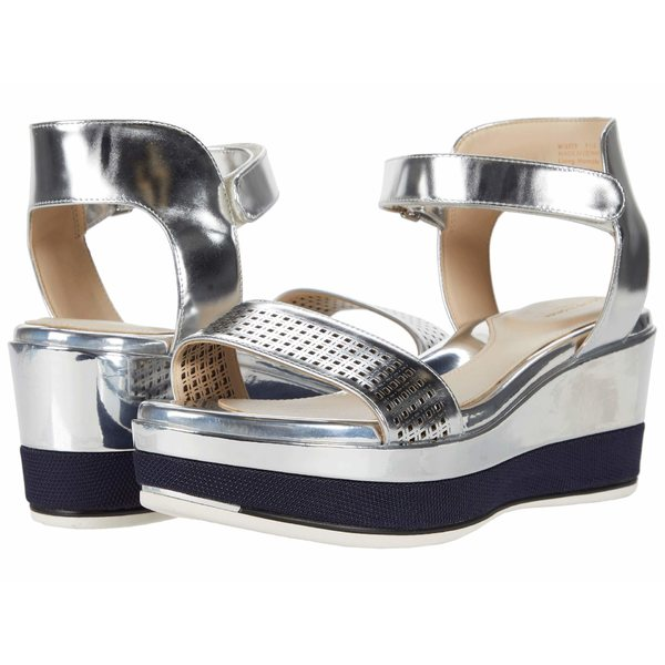 コールハーン レディース ヒール シューズ Grand Ambition Wedge Sandal Silver Specchio Leather