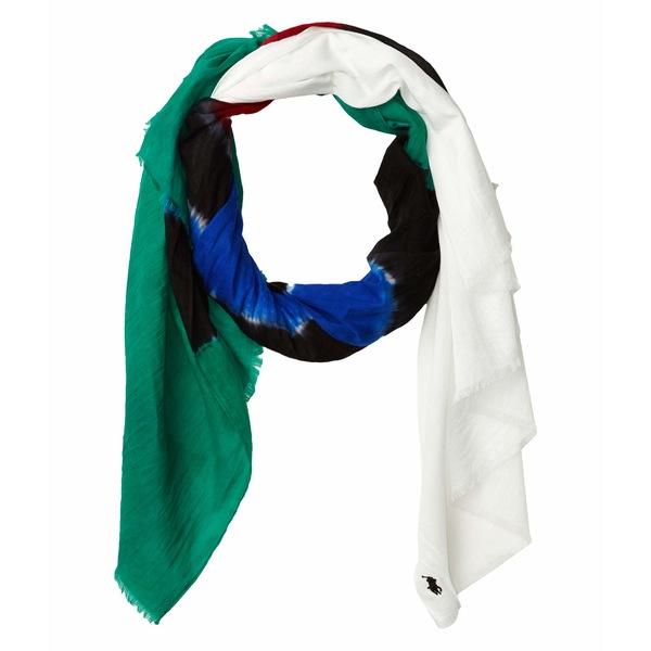 ラルフローレン レディース マフラー・ストール・スカーフ アクセサリー Summer Tie-Dye Stripe White Multi