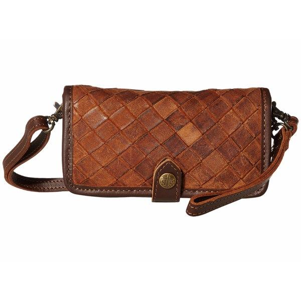 エスティエスランチウェア レディース ハンドバッグ バッグ Basket Weave Crossbody Wallet Brown