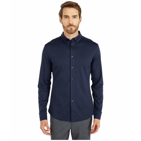 【保障できる】 ヴィンスカムート メンズ シャツ トップス Pique Knit Sport Shirt Navy, 酒食処  寺津屋 59dfd3c3