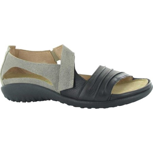 ナオト レディース サンダル シューズ Papaki Sandal Speckled Beige/Soft Black Leather