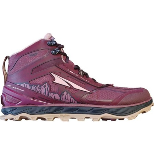 アルトラ レディース スニーカー シューズ Lone Peak 4.0 Mid RSM Trail Running Shoe Dark Port/Light Rose
