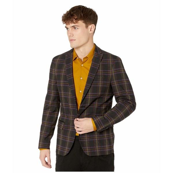 スコッチアンドソーダ メンズ コート アウター Chic Party Blazer in Yarn-Dyed Check Pattern Combo A