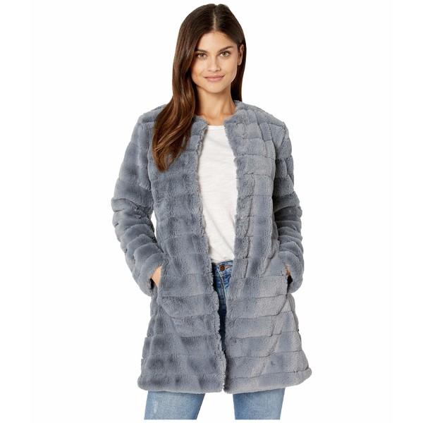 ビービーダコタ レディース コート アウター Anything For You Grooved Faux Fur Coat Iris Blue