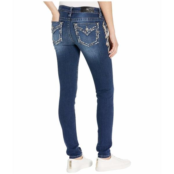 ミスミー レディース デニムパンツ ボトムス Side Wing Skinny Jeans in Dark Blue Dark Blue