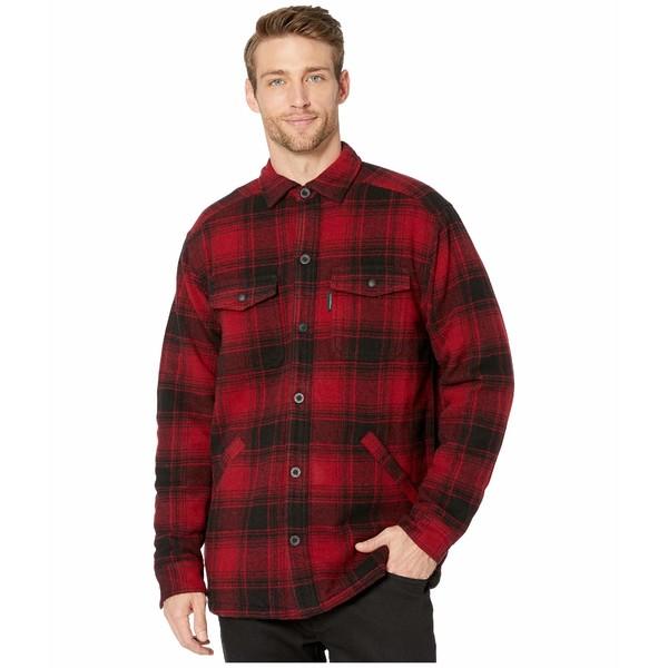 ウルバリン メンズ コート アウター Krause Shirt Jacket Red Plaid