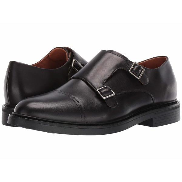 ラルフローレン メンズ ドレスシューズ シューズ Asher Double Monk Strap Black Calf Leather