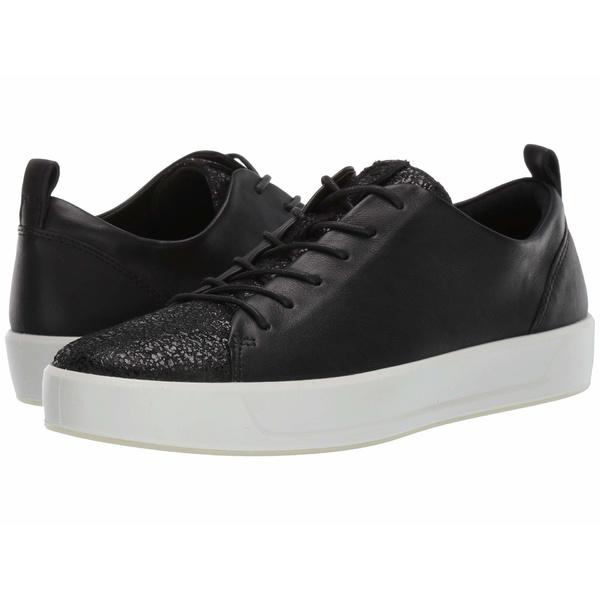 エコー レディース スニーカー シューズ Soft 8 Sneaker Black/Black Cow Leather