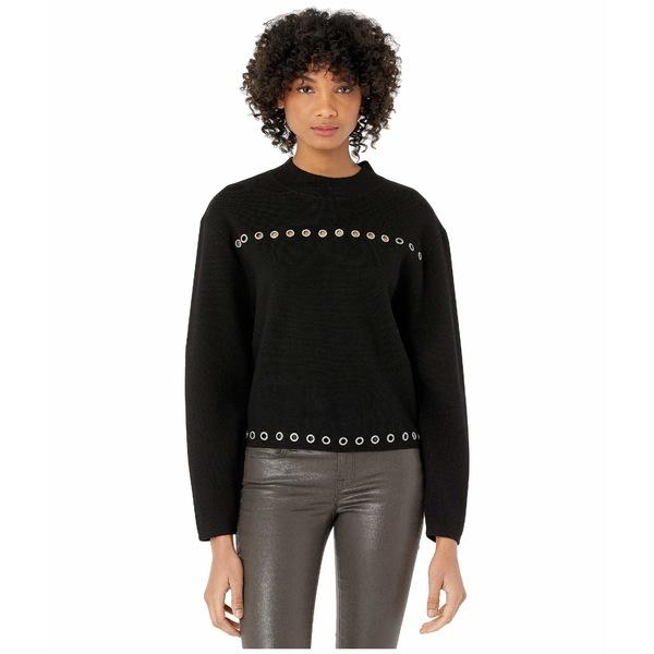 ザ・クープルス レディース ニット&セーター アウター Sweater w/ Grommets Black