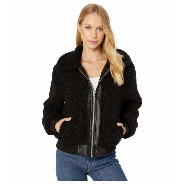 ブランクニューヨーク レディース コート アウター Sherpa Crop Jacket with Faux Leather Center Poppy