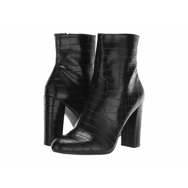 スティーブ マデン レディース ブーツ&レインブーツ シューズ Editor Dress Bootie Black Croco