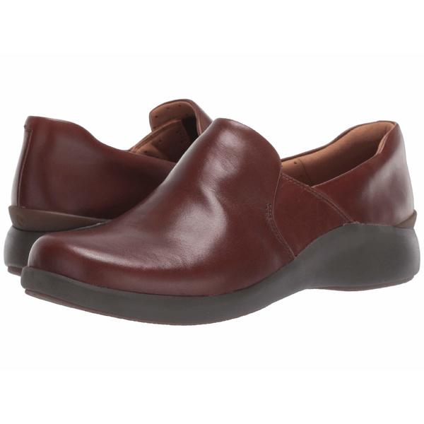 クラークス レディース スリッポン・ローファー シューズ Un Loop 2 Step Dark Tan Leather