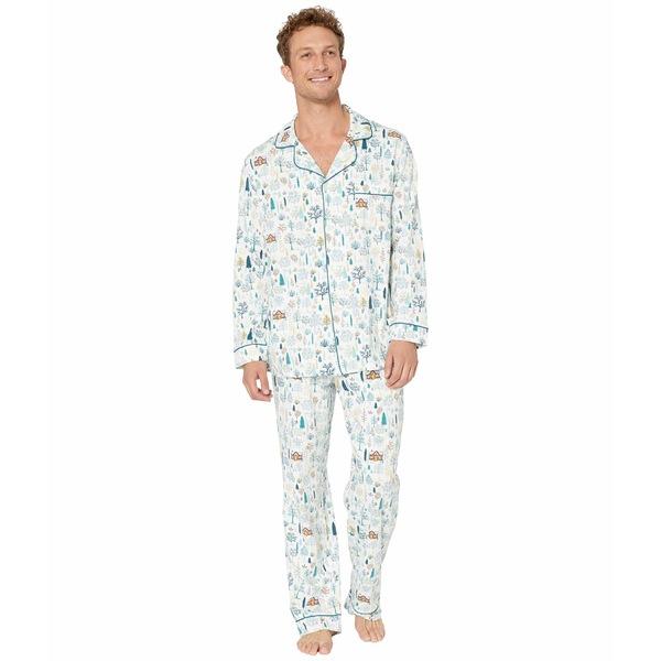 ベッドヘッドパジャマ メンズ ナイトウェア アンダーウェア Long Sleeve Classic Pajama Set Cabin In the Woods