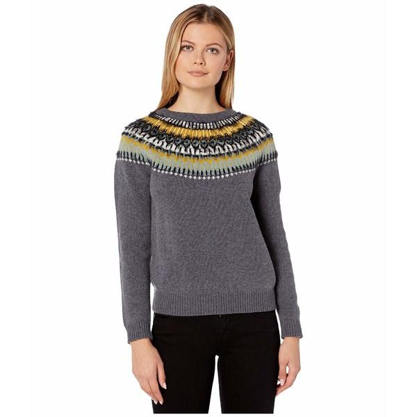 リラピー レディース ニット&セーター アウター Fair Isle Sweater Charcoal Multi