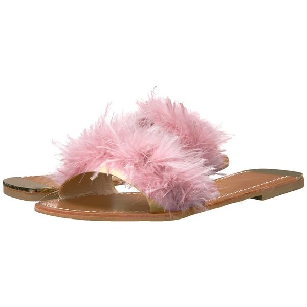 チャイニーズランドリー レディース サンダル シューズ Zoey Pink Marabou Feather