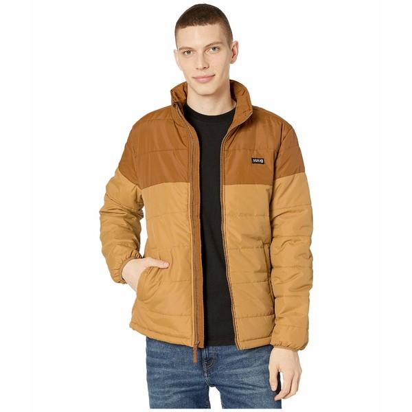 ブリクストン メンズ コート アウター Cass Puffer Jacket Copper/Washed Copper