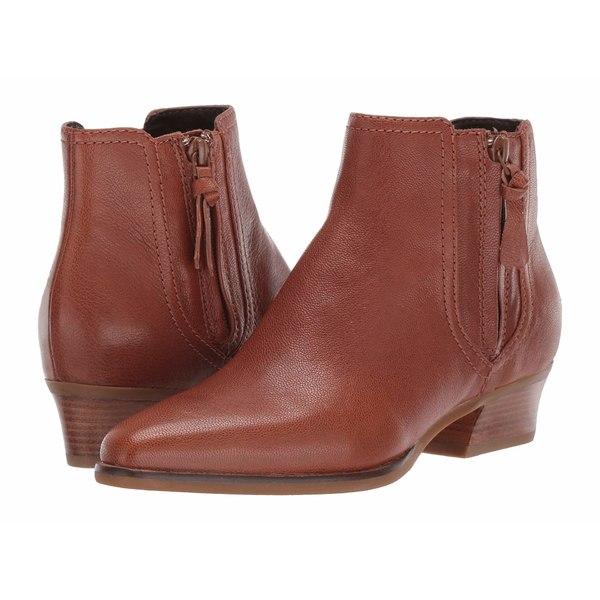 コールハーン レディース ブーツ&レインブーツ シューズ Hadlyn Bootie CH British Tan Leather/Antique Nylon Zip/Dark Natural Raw Stack