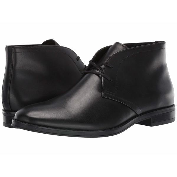 カルバンクライン メンズ ブーツ&レインブーツ シューズ Wolfe Black Crust Leather