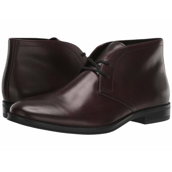 カルバンクライン メンズ ブーツ&レインブーツ シューズ Wolfe Mahogany Crust Leather
