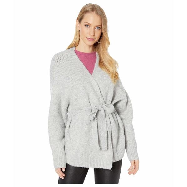 ワンステイト レディース ニット&セーター アウター Belted Jersey Stitch Cardigan Silver Heather