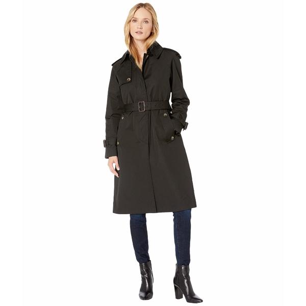 ロンドンフォグ レディース コート アウター Megan Heritage Trench Coat with Removable Lining Black