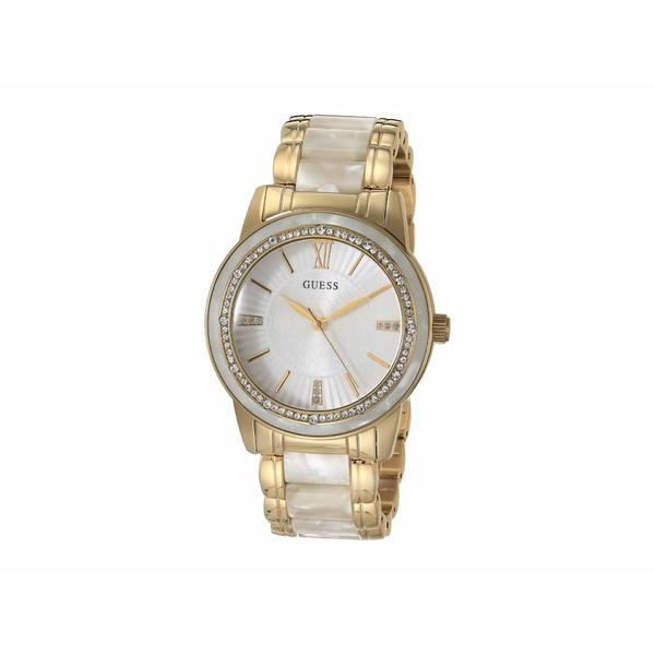 ゲス レディース 腕時計 アクセサリー W0706l3 Gold/White