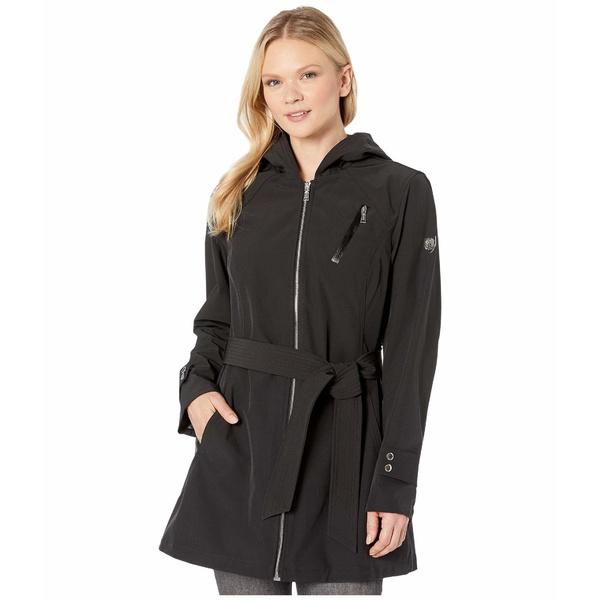 ヴィンスカムート レディース コート アウター Hooded and Belted Jacket V10713-ZA Black