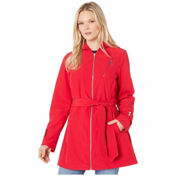 ヴィンスカムート レディース コート アウター Hooded and Belted Jacket V10713-ZA Scarlet