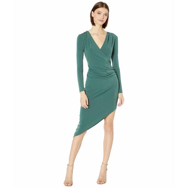 BCBジェネレーション レディース ワンピース トップス Asymmetric Jersey Dress YDM6254651 Dark Green