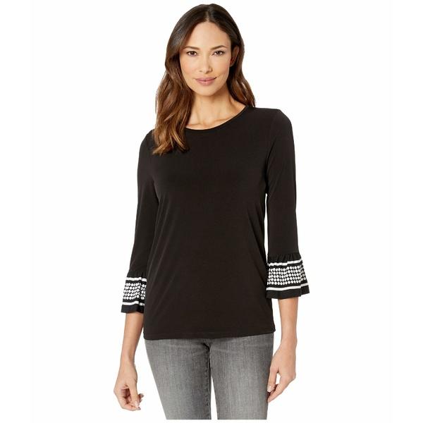 マイケルコース レディース シャツ トップス Simple Dot Flare Sleeve Shirt Black