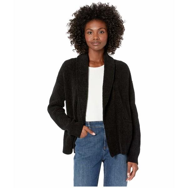エイリーンフィッシャー レディース ニット&セーター アウター Organic Cotton Chenille Shawl Collar Cardigan Black