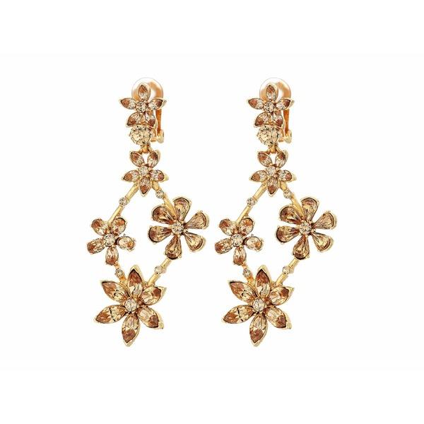 オスカー デ ラ レンタ レディース ピアス&イヤリング アクセサリー Crystal Star Chandelier C Earrings Light Topaz