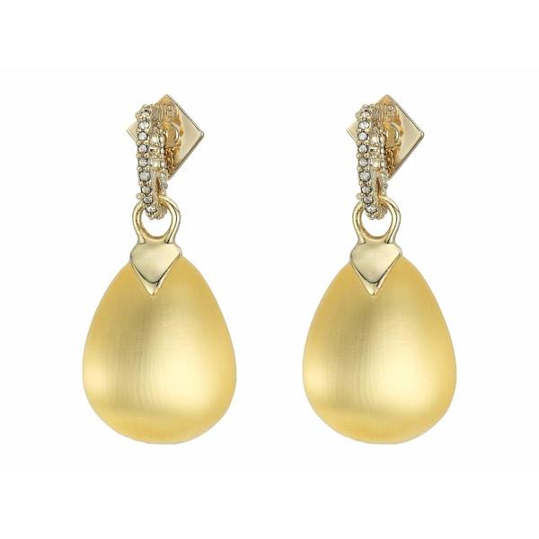 アレクシス ビッター レディース ピアス&イヤリング アクセサリー Tear Drop Crystal Post Earrings Gold