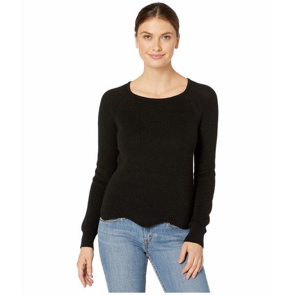 リラピー レディース ニット&セーター アウター Cotton Modal Scalloped Hem Raglan Sweater Black