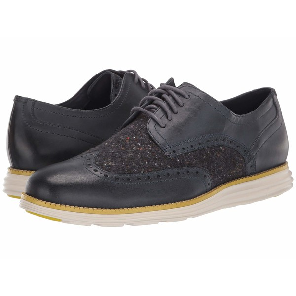 コールハーン メンズ ドレスシューズ シューズ Original Grand Wingtip Oxford Ombre Blue Leather/Wool/Pumice Stone