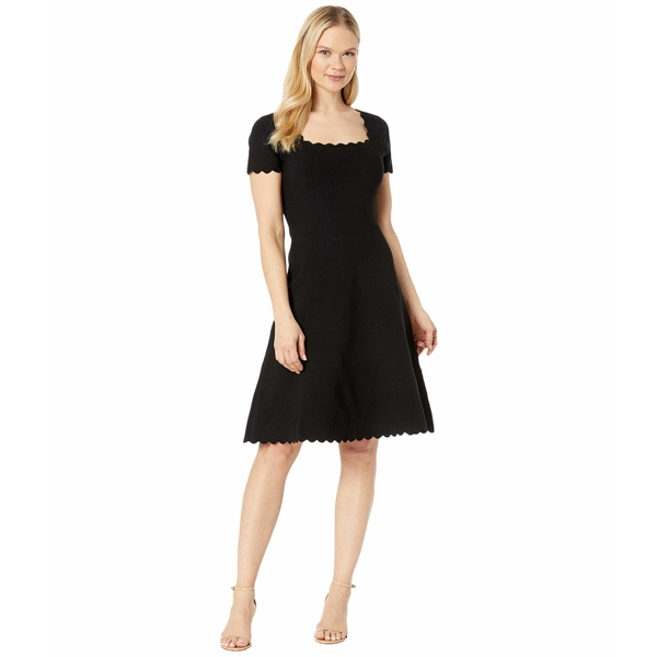 ミリー レディース ワンピース トップス Scallop Dress Black