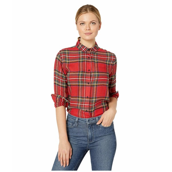 ペンドルトン レディース シャツ トップス Helena Button Front Shirt Red Tartan Plaid