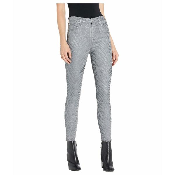 7フォーオールマンカインド レディース デニムパンツ ボトムス High-Waist Ankle Skinny in Grey Metallic Zebra Grey Metallic Zebra
