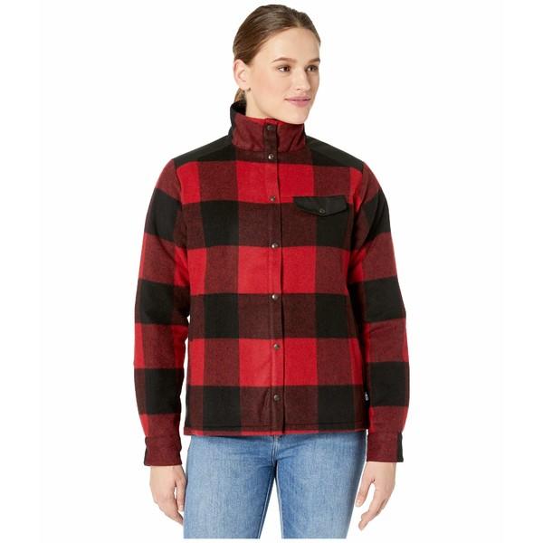 フェールラーベン レディース コート アウター Canada Wool Padded Jacket Red
