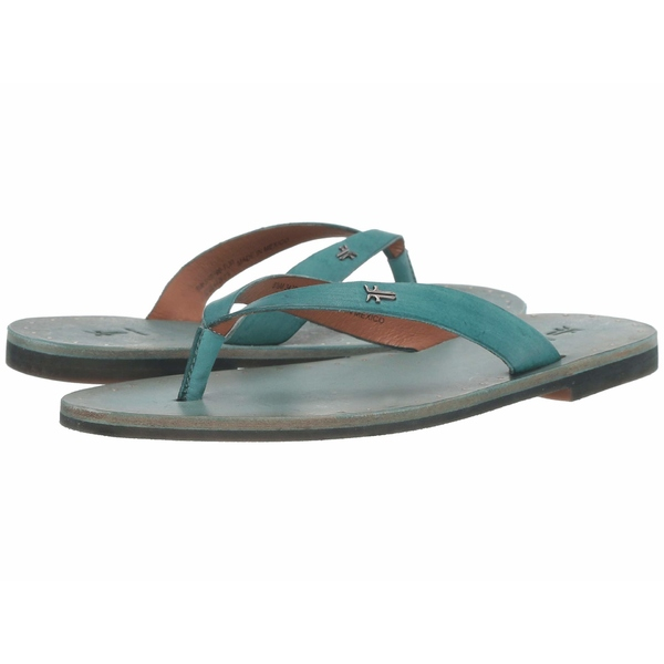 フライ レディース サンダル シューズ Azalea Logo Flip-Flop Turquoise Antique Veg Tan