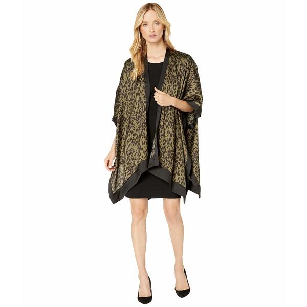 アメリカンローズ レディース シャツ トップス Ilana Leopard Print Kimono Army/Black